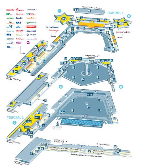 Схема терминалов расположена