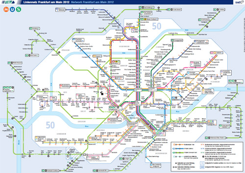 Карта городских электричек в