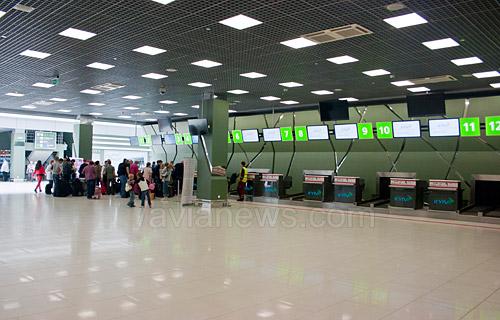 На первом этаже терминала в