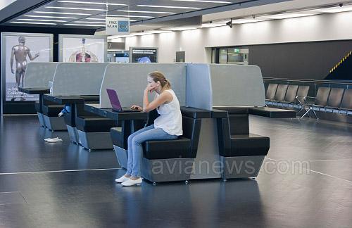 В аэропорту Вена на территории