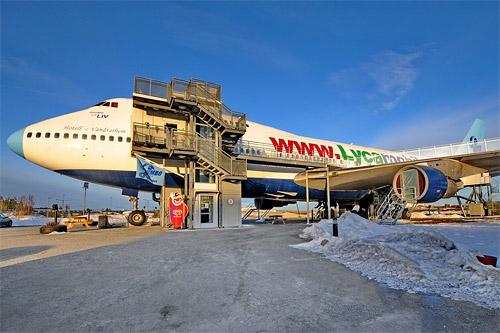 Отель Jumbo Hostel в самолете Boeing 747 в аэропорту Стокгольм