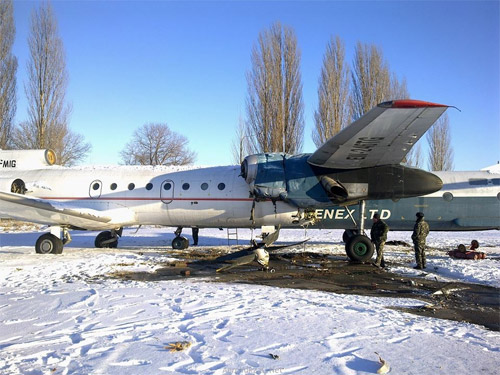 Ан-26Б врезался в Як-40 в аэропорту Борисполь