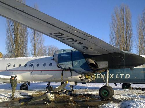 Инцидент в военном секторе аэропорта Борисполь. Столкнулись два самолета