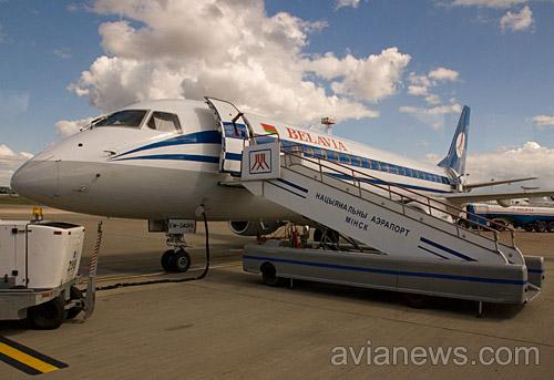 Самолет Белавиа в Минске