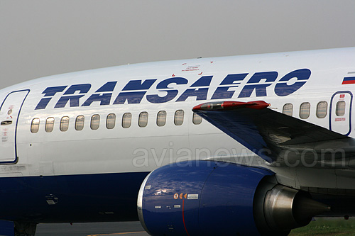 Самолет авиакомпании Трансаэро, логотип