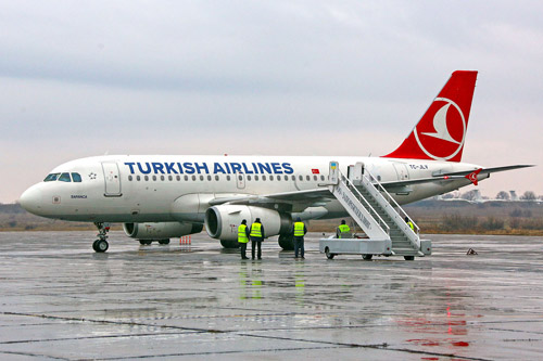 Самолет Turkish Airlines в аэропорту