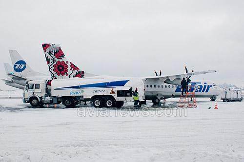 Самолет ATR-72 авиакомпании Ютэйр Украина