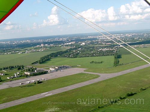 Аэропорт Сумы, с высоты притичьего полета