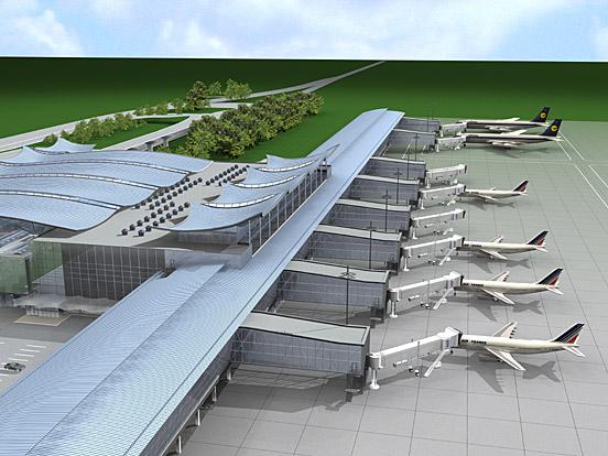 терминале D в аэропорту