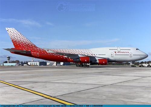 Boeing 747 в новой ливрее авиакомпании Россия