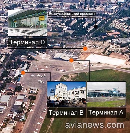 Карта/схема терминалов в