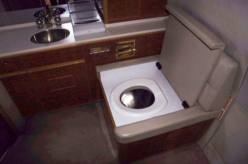 Президентский туалет в Ил-62