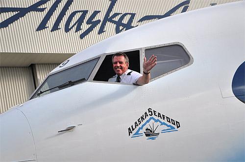 В 2005 году во флоте Alaska Airlines уже был летающий лосось.