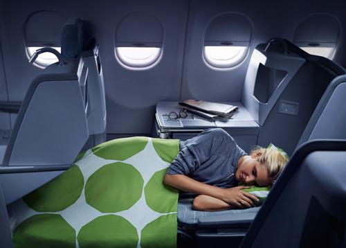 Кресло-кровать в бизнес-классе Finnair