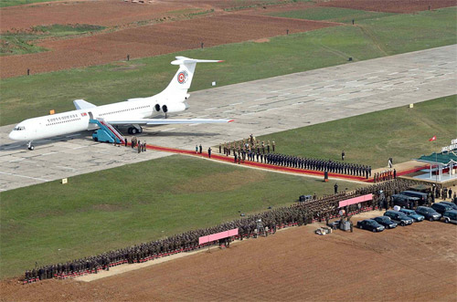 Ил-62 борт №1 лидера Северной Кореи