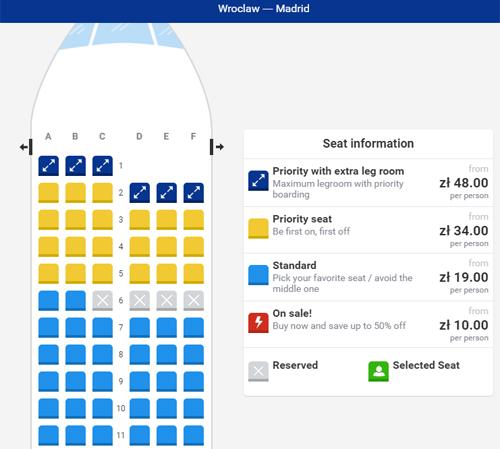 Выбор мест в самолетах Ryanair платный