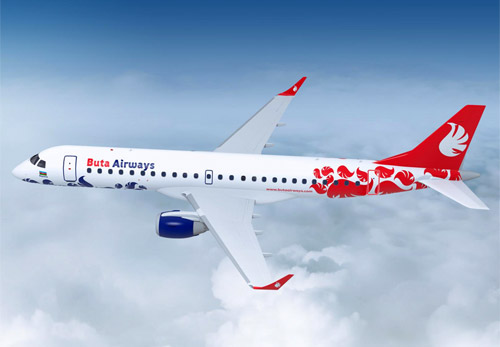 Embraer 190 в ливрее Buta Airways
