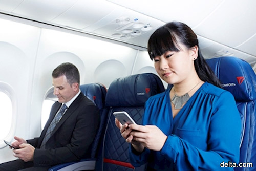 Пассажиры теперь могут обмениваться текстовыми сообщениями в полете бесплатно