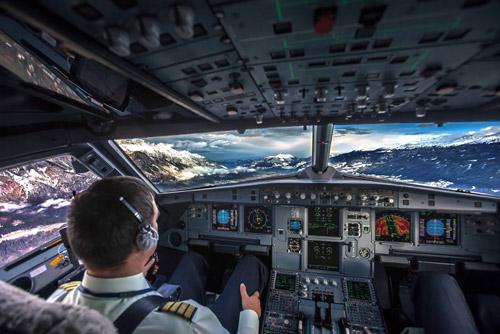 Фото из кабины пилотов