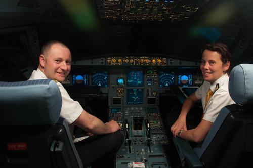 Пилоты первого рейса Czech Airlines Одесса-Прага