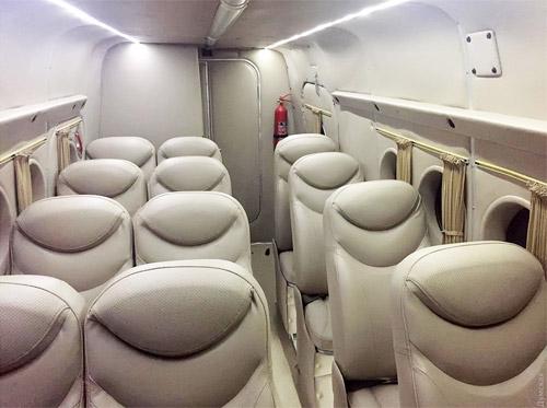 Салон Ан-2 с кожанными сидениями