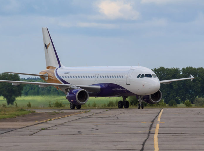 Airbus A320 авиакомпании Yanair. Фото: Yanair