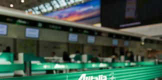 Зона обслуживания пассажиров Alitalia a аэропорту Рима Фьюмичино. Фото: avianews.com