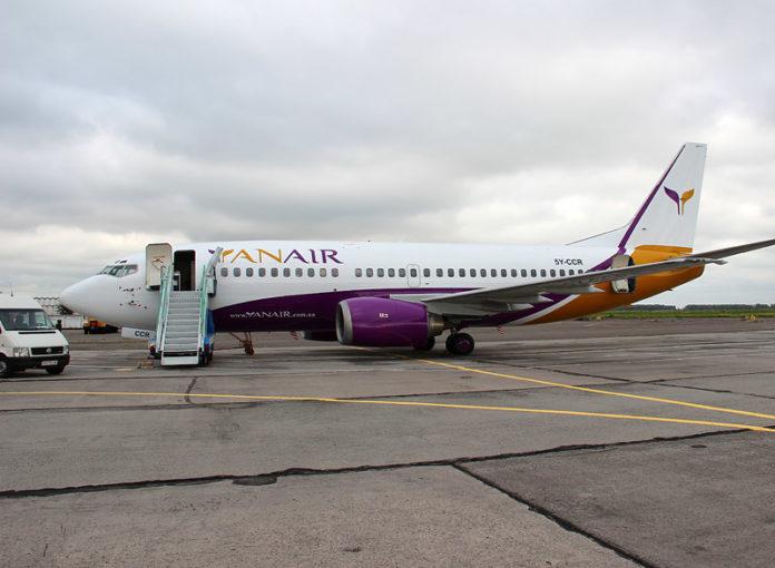 Boeing 737 авиакомпании Yanair. Фото: Yanair