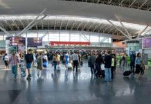 Зал регистрации в терминале D аэропорта Борисполь