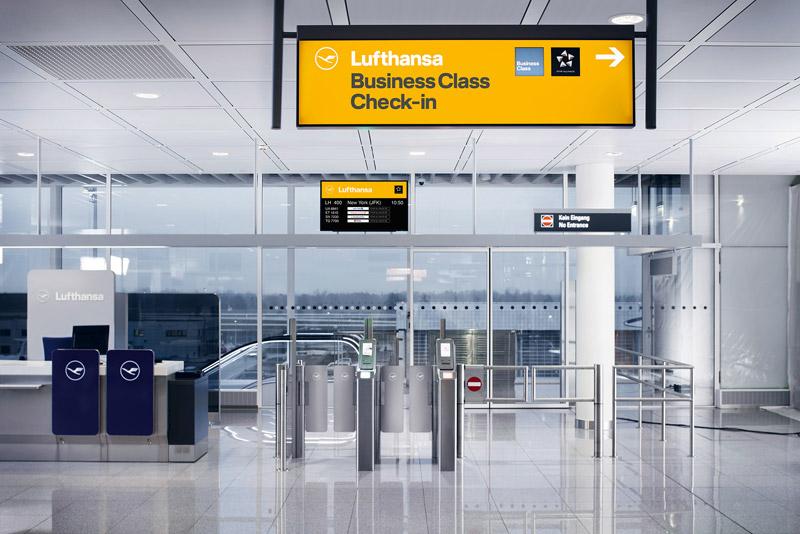 Новый дизайн навигации в аэропорту от Lufthansa. Фото: Lufthansa