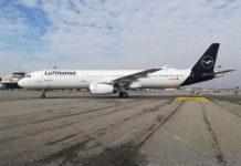 Airbus A321 Lufthansa в новой ливрее авиакомпании. Фото: Lufthansa