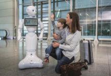 Робот Джози Пепер, который помогает пассажирам мюнхенского аэропорта сориентироваться