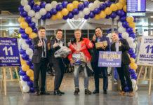 В аэропорту Рига приветствуют 11-миллионного пассажира