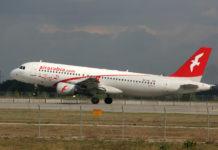 Взлет самолета А320 авиакомпании Air Arabia