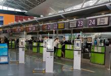 Киоски для самостоятельной регистрации багажа на рейс МАУ в аэропорту Борисполь