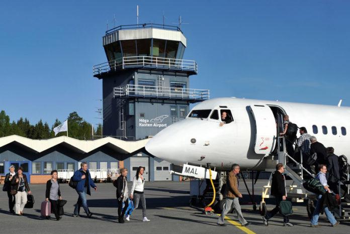 Посадка пассажиров в самолет