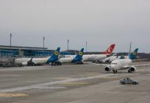 Самолеты в аэропорту Борисполь