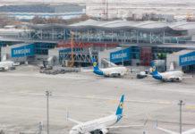 Строительная площадка трансферной зоны терминала D по состоянию на 16 марта 2018 года