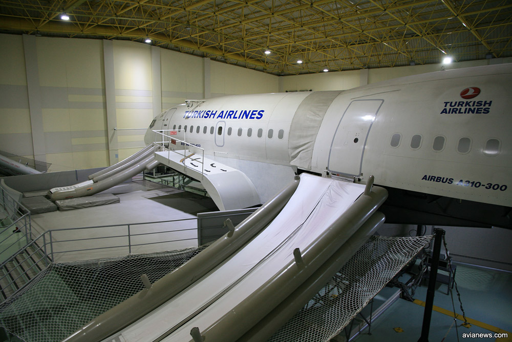 Тренировочный макет самолета для отработки случаев экстренной эвакуации