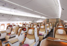 Новый бизнес-класс на борту Boeing 777-200LR Emirates