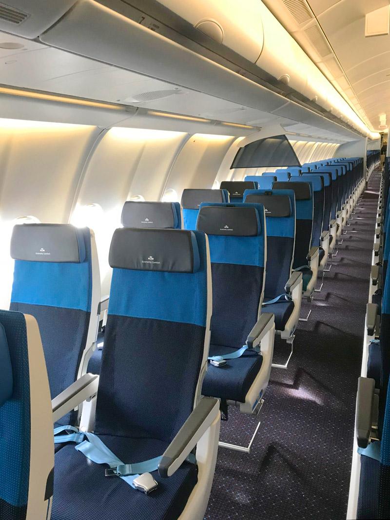 Новый салон эконом-класса в А330 KLM