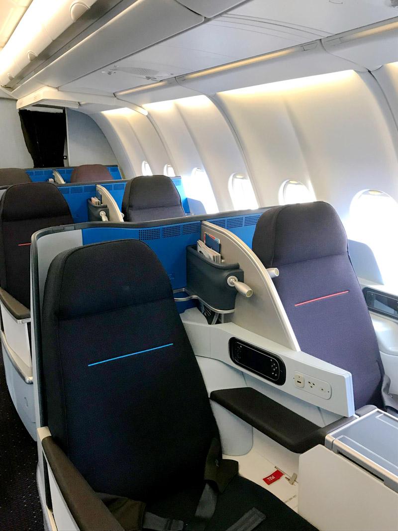 Новый салон бизнес-класса в А330 KLM