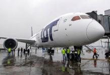Boeing 787-9 LOT в Варшаве