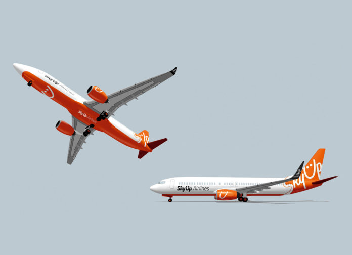 Модели самолетов Boeing 737 в ливрее SkyUp