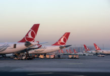 Самолеты Turkish Airlines в аэропорту Стамбула