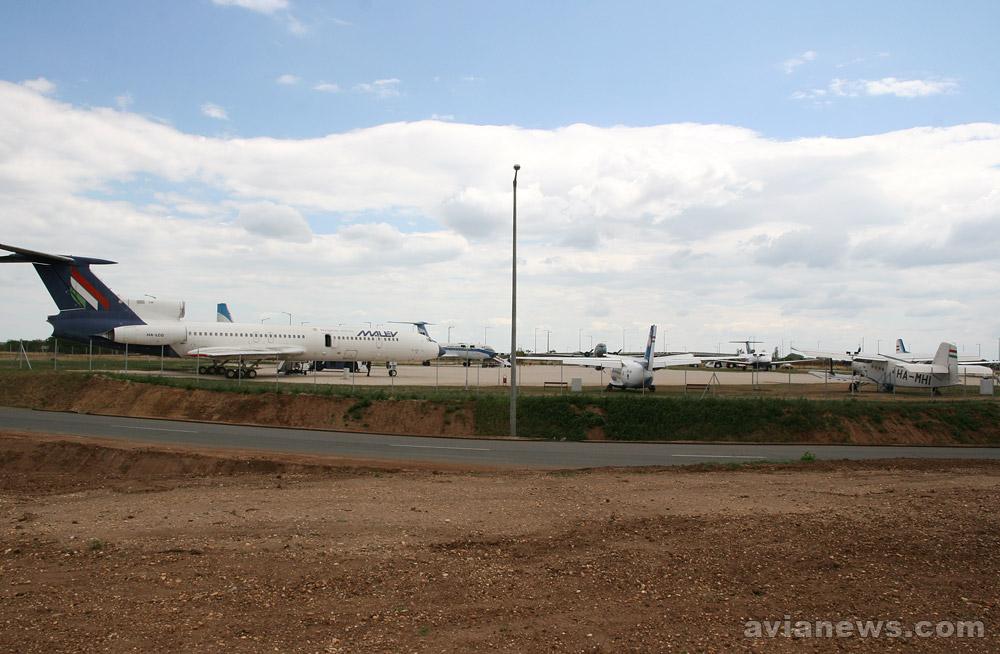 Общий вид на музей авиации в Будапеште