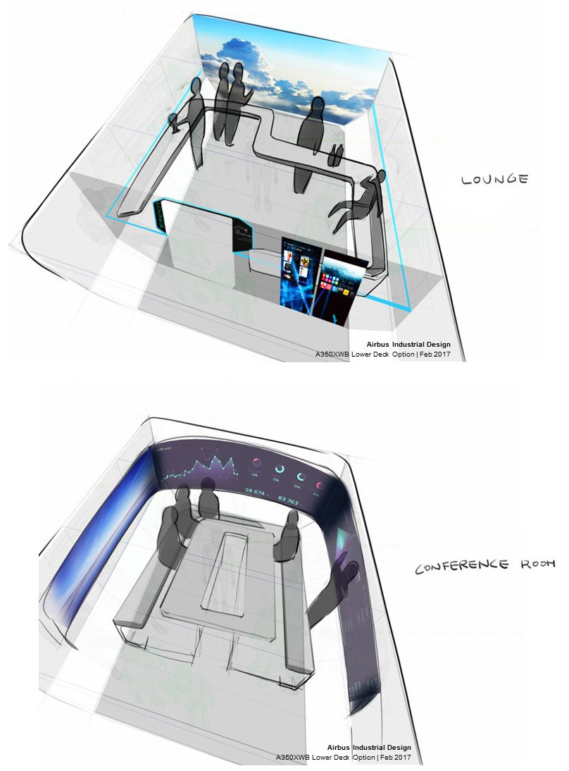 Модули общественного пространства для размещения в багажных отсеках самолетов Airbus