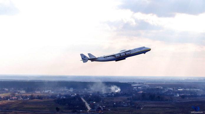 Вылет Ан-225 Мрия из Гостомеля