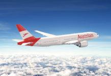 Boeing 777 Austrian Airlines в новой ливрее