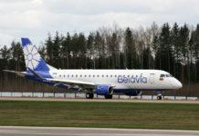 """Новый Embraer 175 """"Белавиа"""" в новой ливрее авиакомпании"""